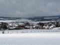 Winterlicher Blick auf Bessingen von der Grillhütte