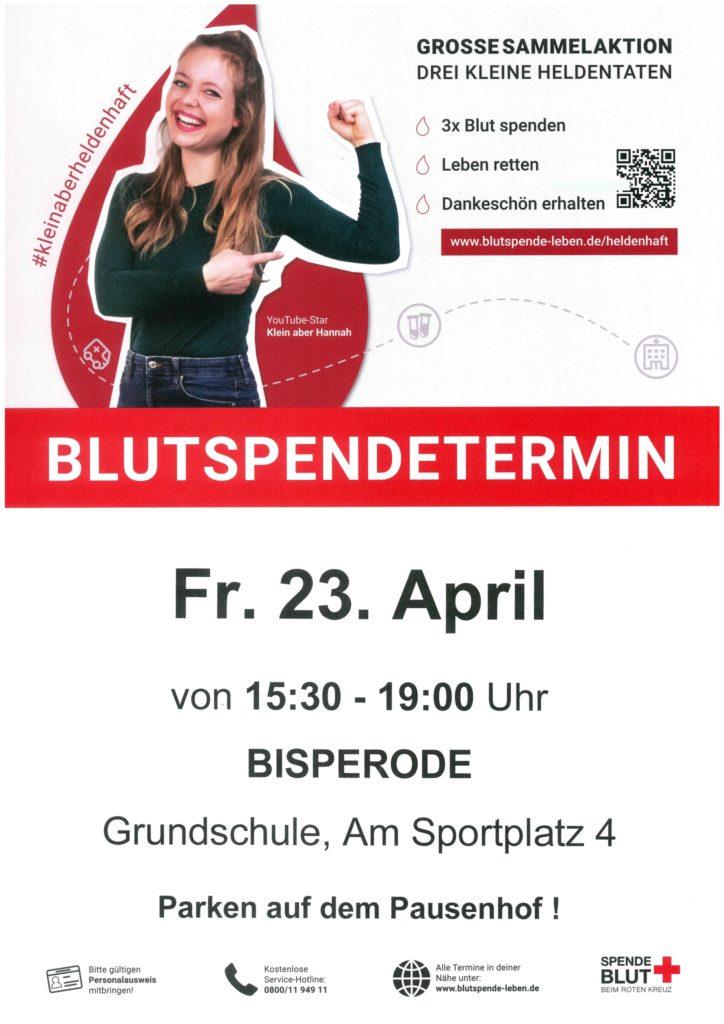 Blutspendetermin @ Grundschule Bisperode | Coppenbrügge | Niedersachsen | Deutschland